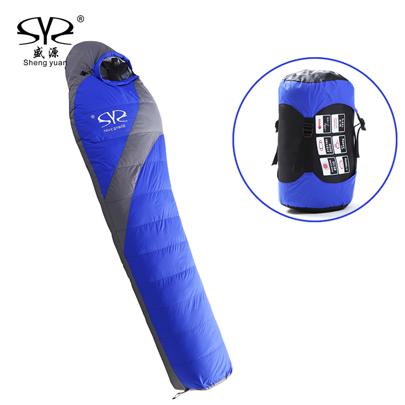 Outdoor Ultralight Lengthened Mummy Sleeping Bag Winter Camping Waterproof Warming Single Sleeping Bags (185 + 30) * 78 * 55cm naturehike waterproof mummy camping sleeping bag cutton lining winter outdoor ultralight warmth camping sleeping bag nh15s013 d