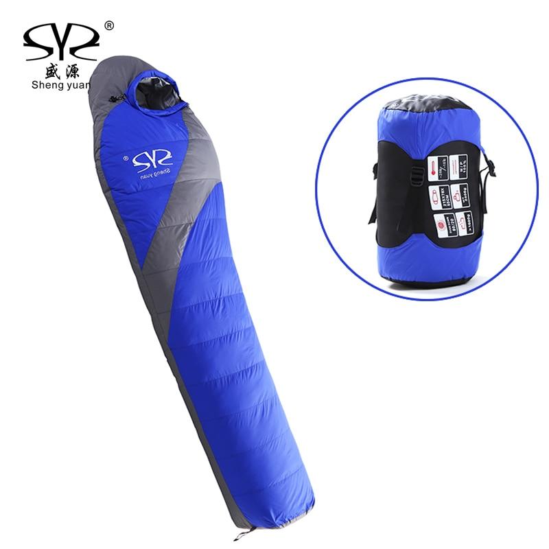 Outdoor Ultralight Lengthened Mummy Sleeping Bag Winter Camping Waterproof Warming Single Sleeping Bags (185 + 30) * 78 * 55cm outdoor winter camping tent backpacking mummy sleeping bag