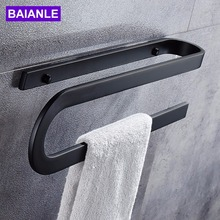 Black Creative design Towel Ring Bar In Bathroom Hardware Sets Accessories Products ,Towel Holder,Towel
