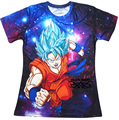 Anime Dragon Ball Z Super Saiyan Goku t-shirt Galaxy Vegeta T mulheres homens moderno 3D t-shirt