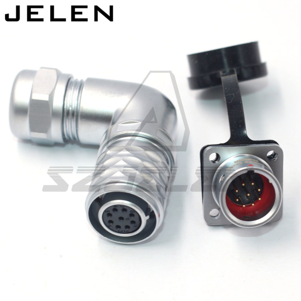 SF1214S/SF1312P WEIPU Connector 90 degree elbow 9pin plug(female) and socket(male) RV power waterproof connectors ip67