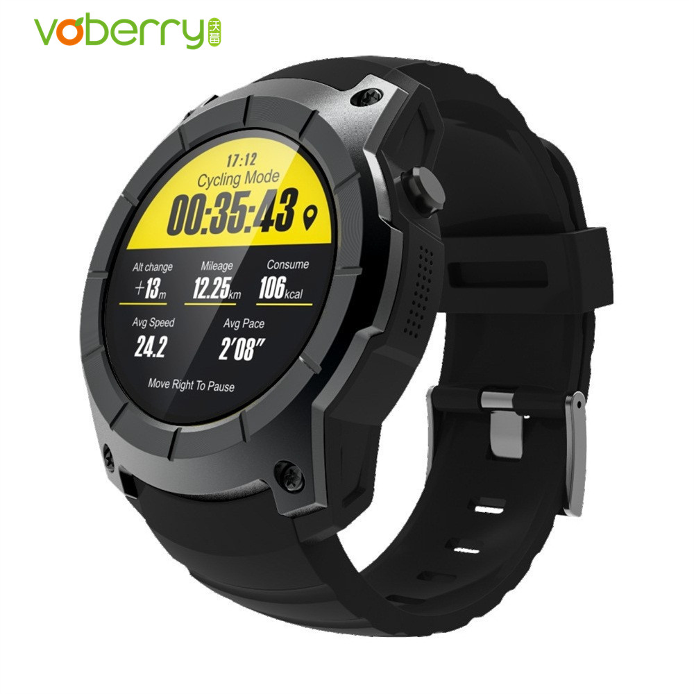 VOBERRY S958 Smart Watch Sport Waterproof Heart Rate Monitor Dial Call GPS SIM Card Fitness Tracker Smartwatch For Android IOS fs08 gps smart watch mtk2503 ip68 waterproof bluetooth 4 0 heart rate fitness tracker multi mode sports monitoring smartwatch