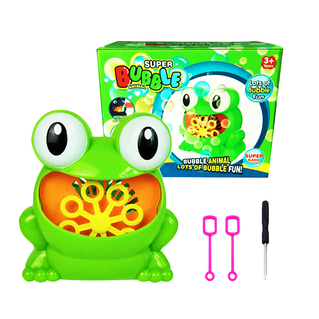 Logical Suriwhs Full-automatic Frog Shape Bubble Machine With Bubble Bar And Screwdriver For Children Indoor Outdoor Parties Toys Good Companions For Children As Well As Adults Outdoor Fun & Sports