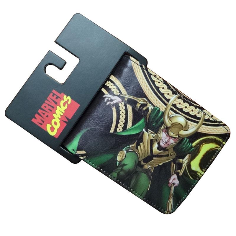 Comics DC Marvel LOKI Wallets Unique Fashion Casual Leather Purse Designer Bag Men Gift Wallet monederos carteras hombre 4.5inch