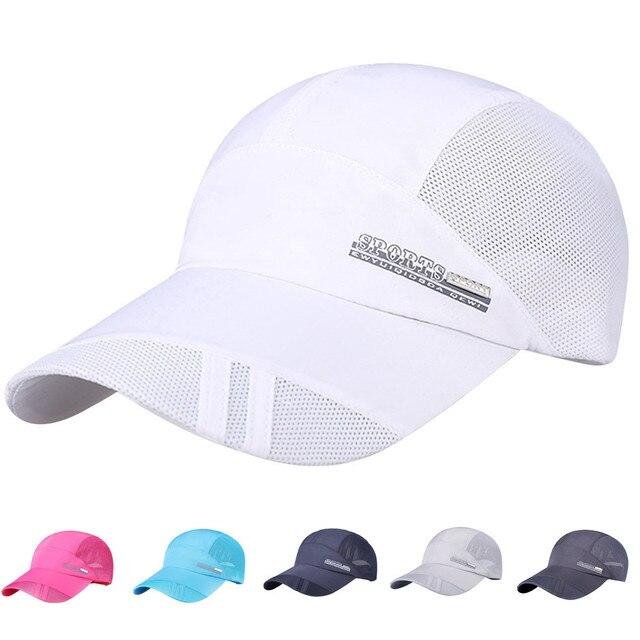 36d465c90dd Male Baseball cap Adult Mesh Hat Quick-Dry Collapsible Sun Hat Outdoor  Sunscreen Casquette homme Summer bones masculino