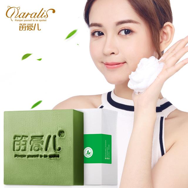 120g Matcha Handmade Soap Oil Control Hand Made Acne Treatment Facial Cleanser Moisturizing Green Tea for Face Skin Care Bath