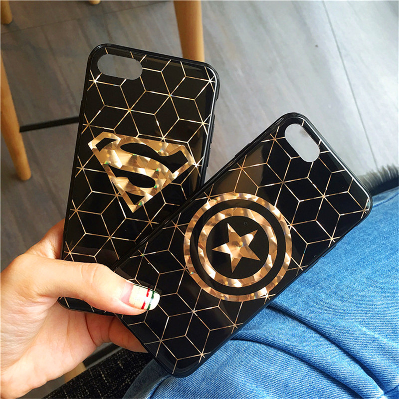 font-b-marvel-b-font-super-hero-gold-plating-gridding-phone-case-for-iphone-x-10-8-7-6s-plus-transformers-superman-captain-america-case-cover