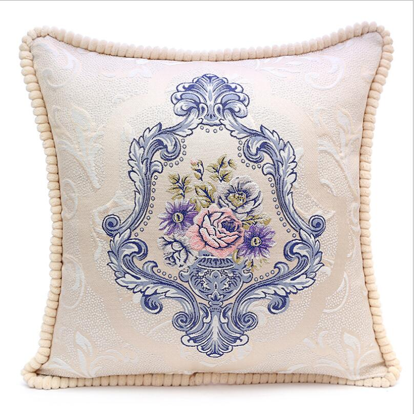 Pillowcase In Spanish Magnificent Hot Spanish Royal Standard Floral Cross Embroidery Home Furnishings