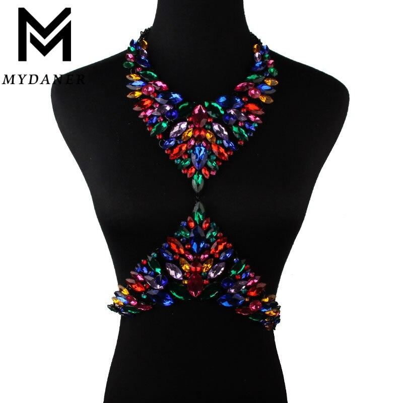 MYDANER New 11 Colors font b Luxury b font Crysatl Rhinestone font b Jewelry b font