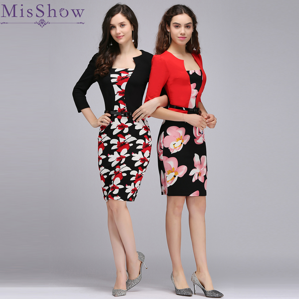 Red Black   Cocktail     Dresses   2019 robe de   cocktail   Sexy Sheath bodycon Formal Party   Dresses   with Belt Special Occasion For Women