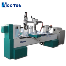 wood cnc turning lathe/ lathe machine factory price , equipment for small business at home