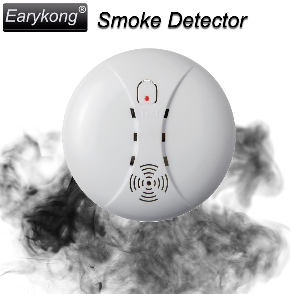 Free Shipping New 433MHz Wireless Smoke Detector Fire Alarm Sensor for Indoor Home Safety Garden Security SM-01, Hot Selling, 2015 new selling free shipping wireless