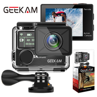 GEEKAM Action Camera K3R/K3 Ultra HD 4K/30fps 20MP WiFi 2.0 170D Dual Screen Underwater Waterproof Helmet Bike Sports Video Cam