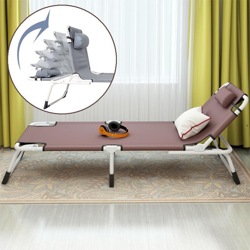 Многофункциональная Простая Современная односпальная кровать для дома, офиса, отдыха, обеденный перерыв, шезлонги, пляж, балкон, лежащая кр... - 4