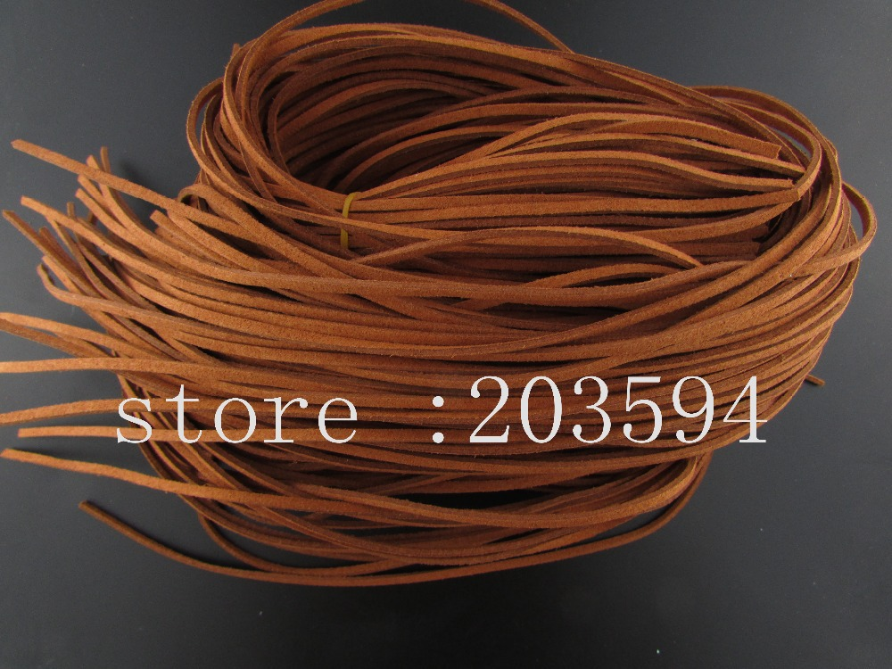 SXC1! 5 Meters 3x1.5mm Brown color Faux Suede Cord Leather Lace For Clothes Shoes Jewelr ...