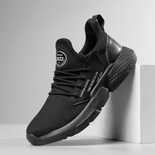 Men Running Shoes Soft  Air Mesh Breathable Sneakers Shoes Male Outdoor Sport Shoes Autumn Comfortable Black Sneakers Zapatillas autumn spring children shoes brand outdoor trainner male sneakers anti skid wear running shoes breathable for men comfortable