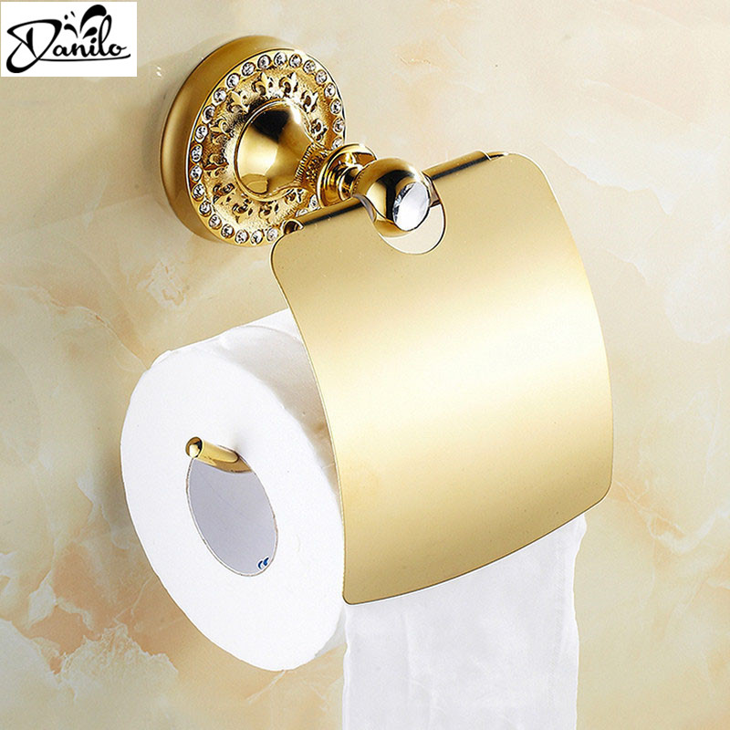 New luxury Wall Mounted crystal   brass gold paper box roll holder toilet  gold paper holder tissue box Bathroom AccessoriesOnline Get Cheap Paper Box Gold Toilet  Aliexpress com   Alibaba Group. 24k Gold Toilet Paper. Home Design Ideas