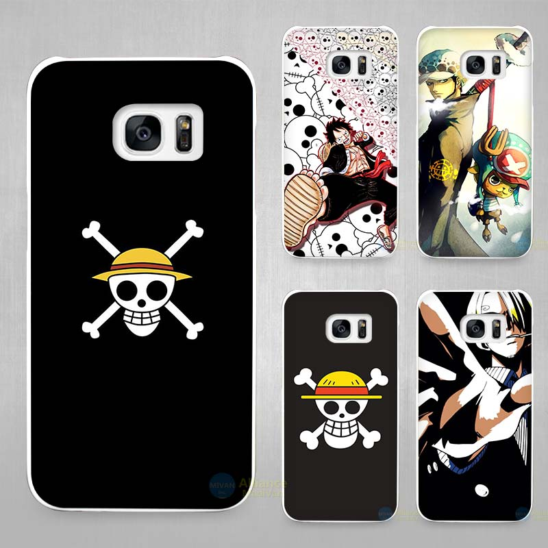 One Piece strong world Hard White Coque Shell Case Cover Phone Cases for Samsung Galaxy S4 S5 S6 S7 Edge Plus