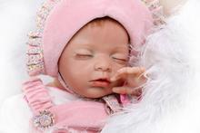 53cm lovely baby girl sleeping princess reborn dolls silicone baby reborn bonecas high quality children Kids birthday gifts