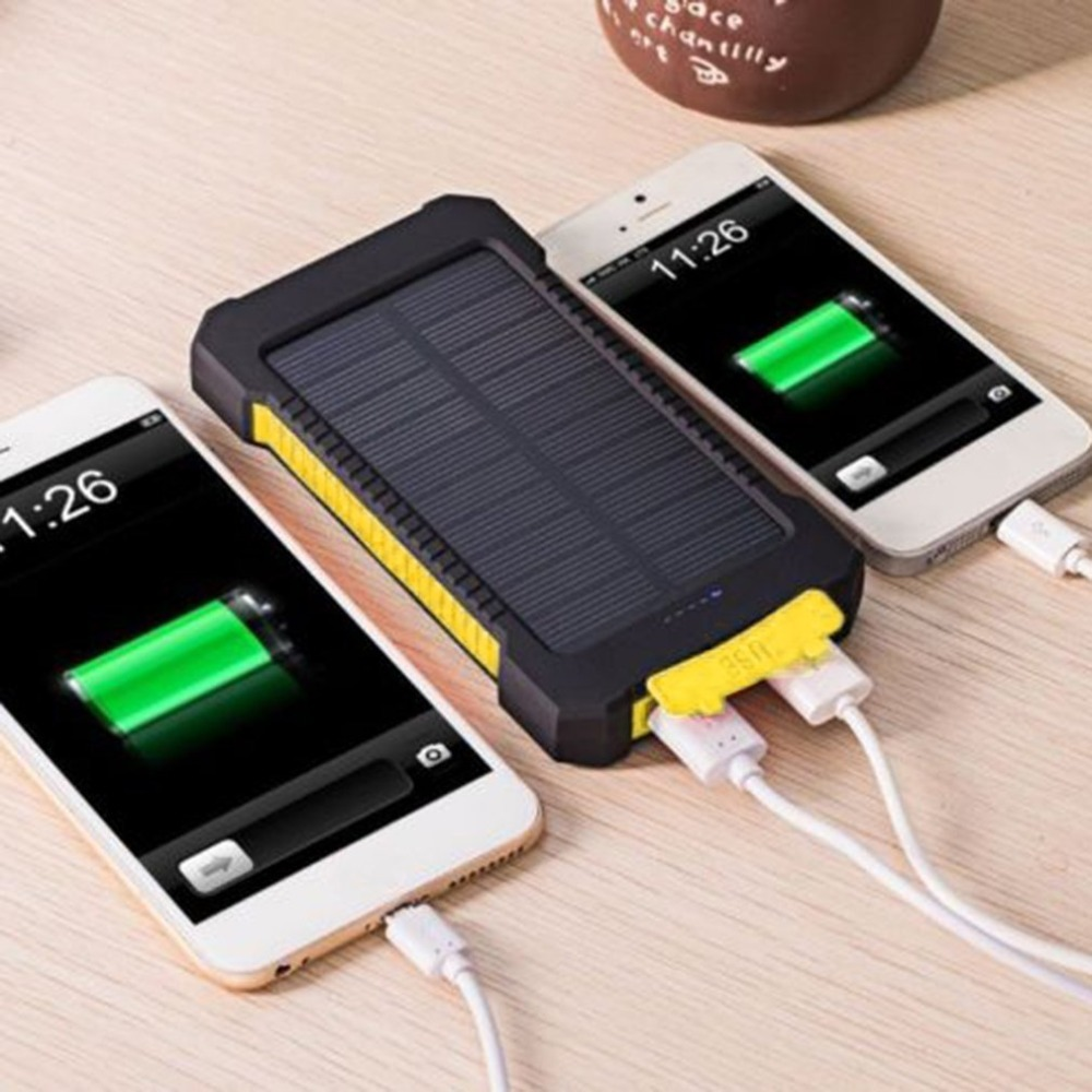 Image 5 - Solar Power Bank for iPhone X 6 7 8 Plus 30000mah Waterproof External Battery Backup LED Powerbank Phone Battery Charger-in Solar Cells from Consumer Electronics