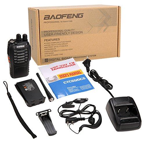 Купить с кэшбэком 6 PCS Baofeng BF-888S Walkie Talkie 5W Handheld Pofung UHF 5W 400-470MHz 16CH Two Way Radio Portable CB Radio