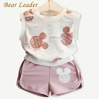 Bear Leader Girls Clothing Sets 2016 Fashion Summer Kids Clothing Sets Lovely Doll Print T Shirt