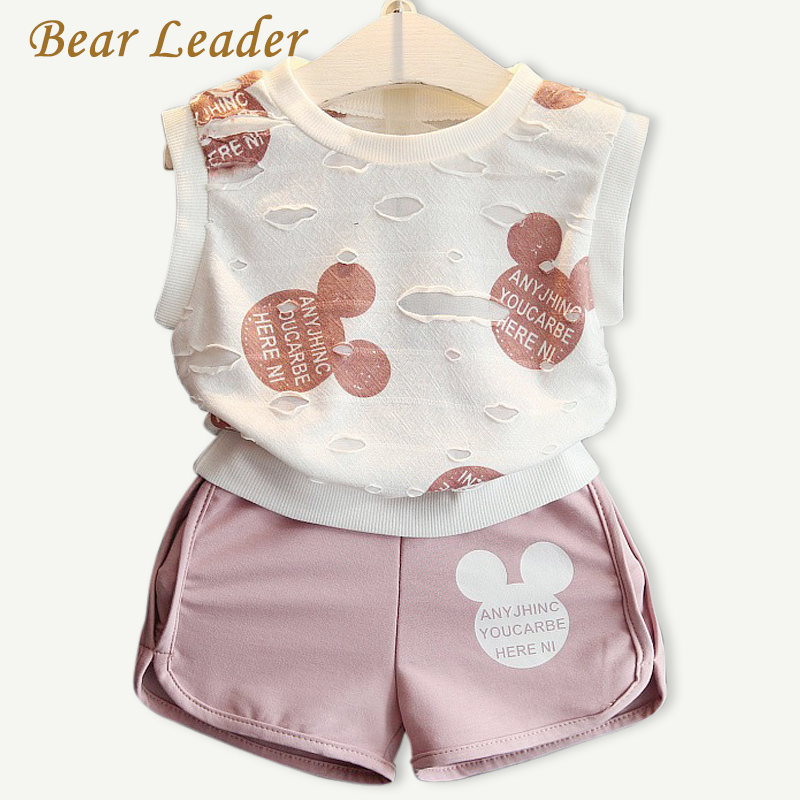 Bear Leader Girls Clothing Sets 2016 Fashion Summer Kids Clothing Sets Lovely Doll Print T-shirt+Short 2Pcs for Girls Clothes manzoni treviso