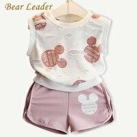 Bear Leader Girls Clothing Sets 2016 Fashion Summer Kids Clothing Sets Lovely Doll Print T Shirt