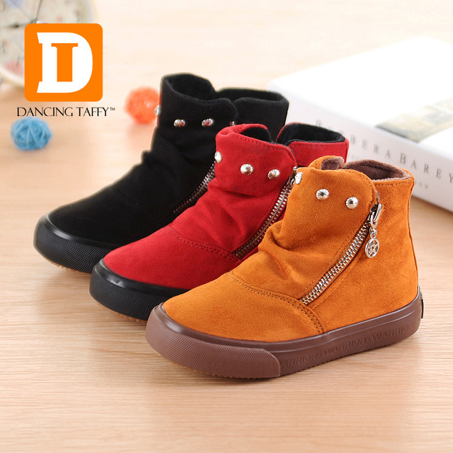 c2cd2a18e Marca 2019 otoño zapatos de los niños zapatos bandada de cuero suela de goma  plana botas