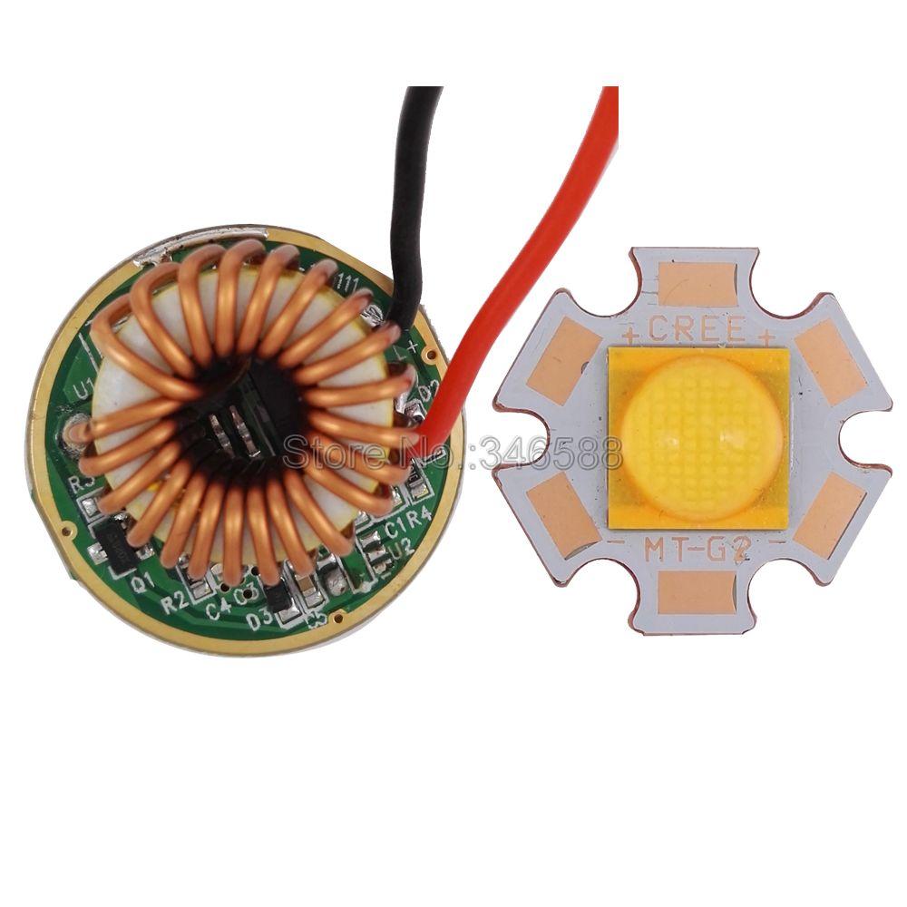 Cree CXA MT-G2 MTG2 EasyWhite 18 V 18,5 W blanco caliente de alta potencia LED emisor luz 20mm cobre PCB w/26mm 1 modo 5 controlador en modo