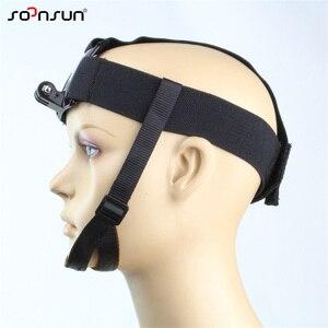 Image 2 - Крепление на голову SOONSUN, крепление на голову, ремень с подбородком для GoPro Hero 7, 6, 5, 4, 3, 2018, аксессуары для SJCAM, Xiaomi Yi
