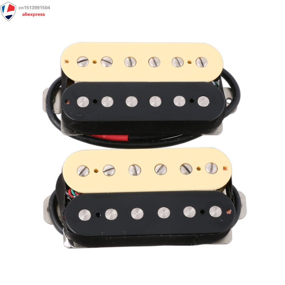 1 Seat Zebra Electric Guitar Humbucker Pickup Alnico 5 Magnet Double Coil Neck & Bridge Pickup belcat electric guitar pickups humbucker alnico 5 humbucking bridge neck chrome double coil pickup guitar parts accessories