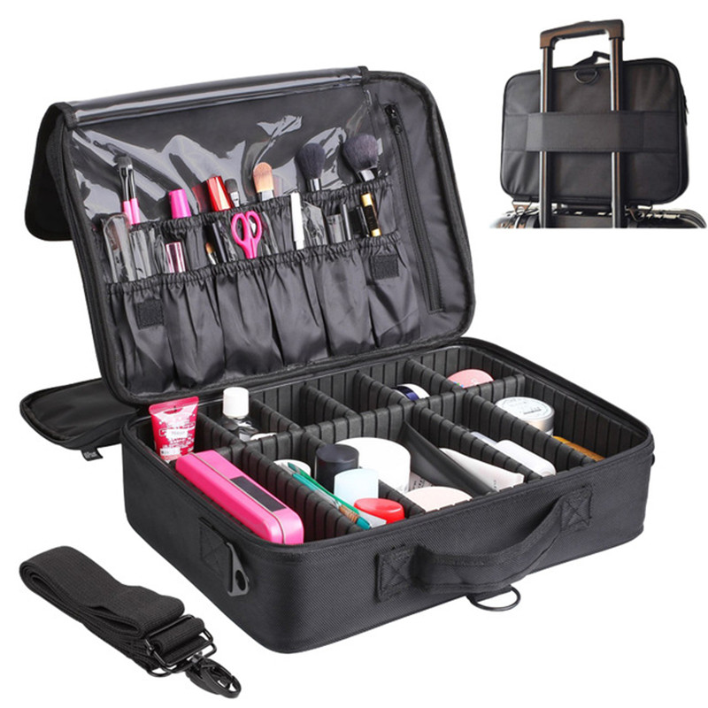 High Quality Professional Large Makeup Organizer Bolso Mujer Cosmetic Case Travel Large Capacity Storage Bag Suitcases