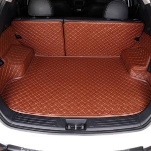 Custom Car Trunk Mat For Suzuki all model Grand Vitara Kizashi Swift JIMNY Wagon alivio SX4 X5 All surrounded by car trunk pad(China)