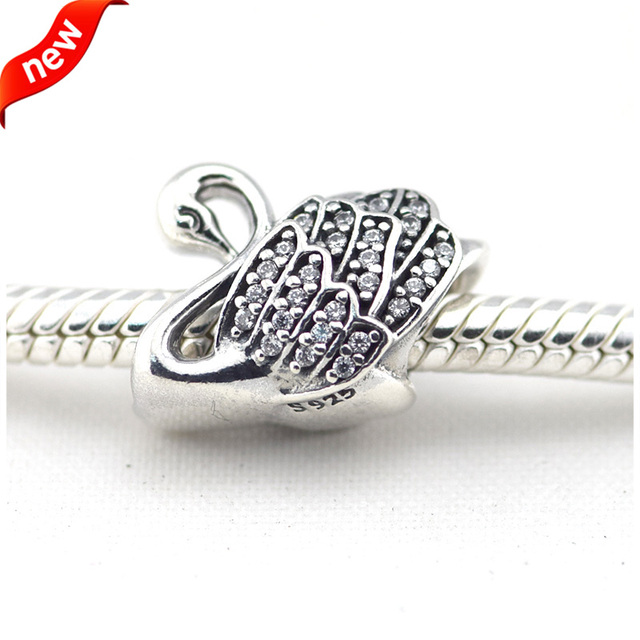 Aliexpresscom Buy Fits For Pandora Bracelets Majestic Swan Charms - Service invoice template free word pandora store online