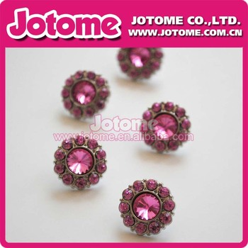 Fashion 25mm Pink Acrylic Rhinestone Button and Garment Buttons