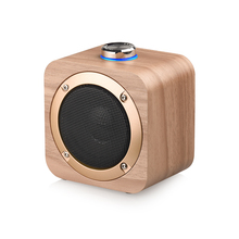 Q1B wood Portable Bluetooth speaker Wireless Loudspeaker Sound System 3W stereo Music surround support tws connect
