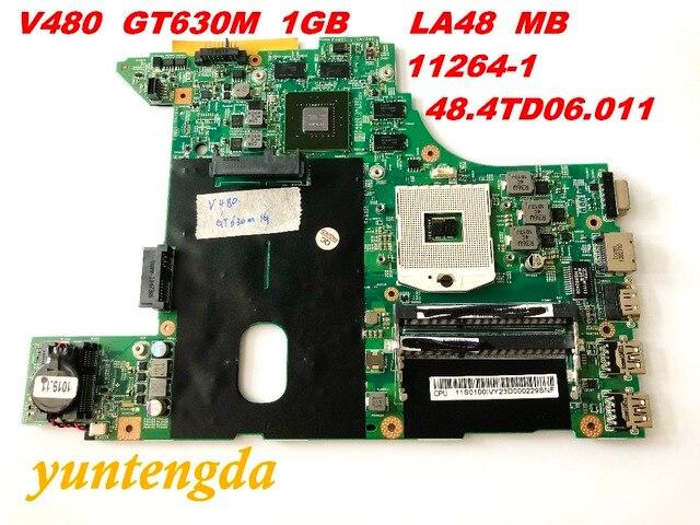 Original for Lenovo V480 motherboard GT630M  1GB   LA48  MB   11264 1  48.4TD06.011  tested good free shipping connectors