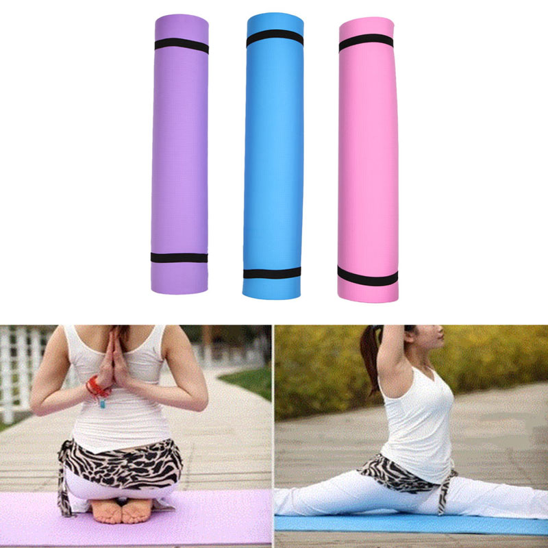 3 Colors 4MM EVA Yoga Mat Exercise Pad Soft Thick Non-slip Folding Gym Fitness Mat Pilates Supplies Non-skid Floor Play Mat makeup tool kits thick folding panel gymnastics mat gym exercise lady yoga tri mat pad keep fit tools massage pad