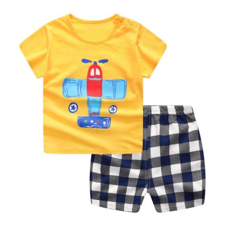 Funfeliz Baby Boy Ubrania Letnie Chłopięce Garnitury Sportowe Na Co - Ubrania dziecięce - Zdjęcie 2