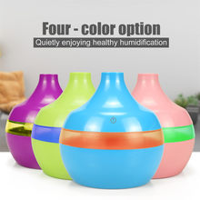 USB Air Aroma Essential Oil Diffuser LED Ultrasonic Aroma Aromatherapy Humidifie 7 Color Change LED Night light for Home T9#(China)