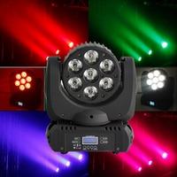 7x12 W CREE RGBW 4in1 wiązki światła LED ruchome światło głowy DMX512 9/16 kanałów 7x12 W Led oświetlenie z ruchomą głowicą dla DJ koncert koncert ślubne w Oświetlenie sceniczne od Lampy i oświetlenie na