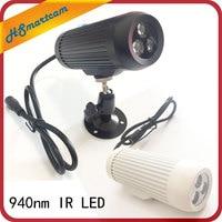 CCTV 940nm 3pcs IR LED Surveillance Cameras night vision Fill light 940nm Invisible Day Night IR Array Illuminator Lighting