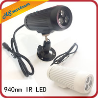 CCTV 940nm 3pcs IR LED Surveillance Cameras night vision Fill light 940nm Invisible Day Night IR Array Illuminator Lighting