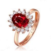 Ручной работы по индивидуальному заказу чистого серебра подарки благородные красочные сокровище Красный кольцо с турмалином