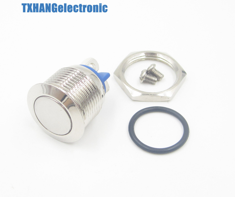 16mm Start Horn Button Momentary Stainless Steel Metal Push Button Switch