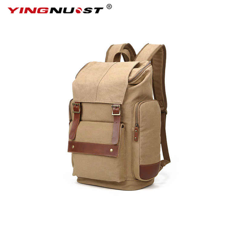 YINGNUOST F09 Protable Casual Outdoor Backpack Durable Canvas Universal Travel Camera Bag Shoulder 47x36x20cm wholesale luxury professional protable trumpet bag 600d soft pocket case durable cover good quality backpack shoulder withstrap