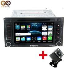 Sinairyu Octa Core Android 6.0 Reproductor de DVD Del Coche 2 DIN Unidad Principal estéreo para VW Touareg T5 2004-2011 Táctil 1024*600 pantalla