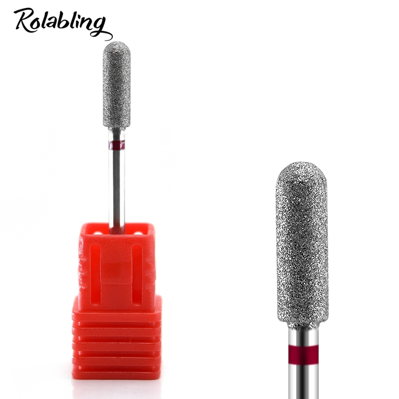 Rolabling 1PC Diamond Nail Drill Bit Electric Nail Drill Machine Professional Nail Drill Bits File Milling Cutters For Manicure