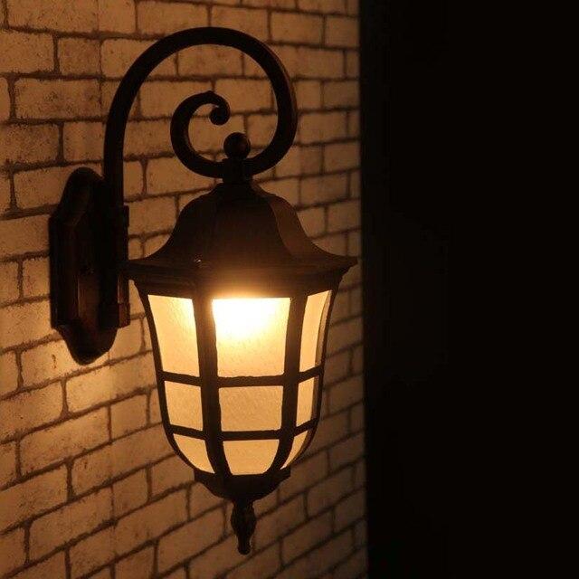 Impermeabile applique da parete da giardino illuminazione esterna ...